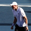 John Isner US Open first round celebration