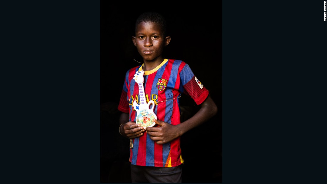 """Mahamat (Football Player or Musician), Central African Republic. """"One day, I will be a musician, or a football player in Barcelona""""."""