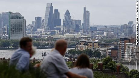 London's skyline seen from Greenwich Park.