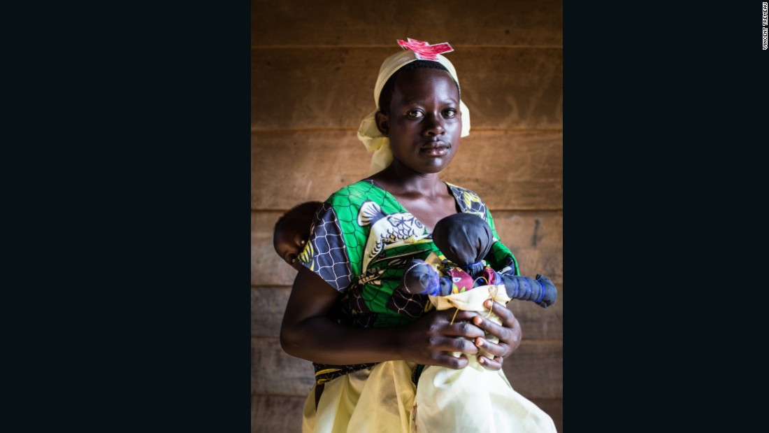 """Françoise (Nurse), Democratic Republic of the Congo. """"I am 15 years old and I have a child named Chance. He is 1 year old. When I go to school, I am not ashamed of anything. But others cannot understand why I am a student while I already have a child. I tell them that if I study, it is precisely because I want to help my child""""."""