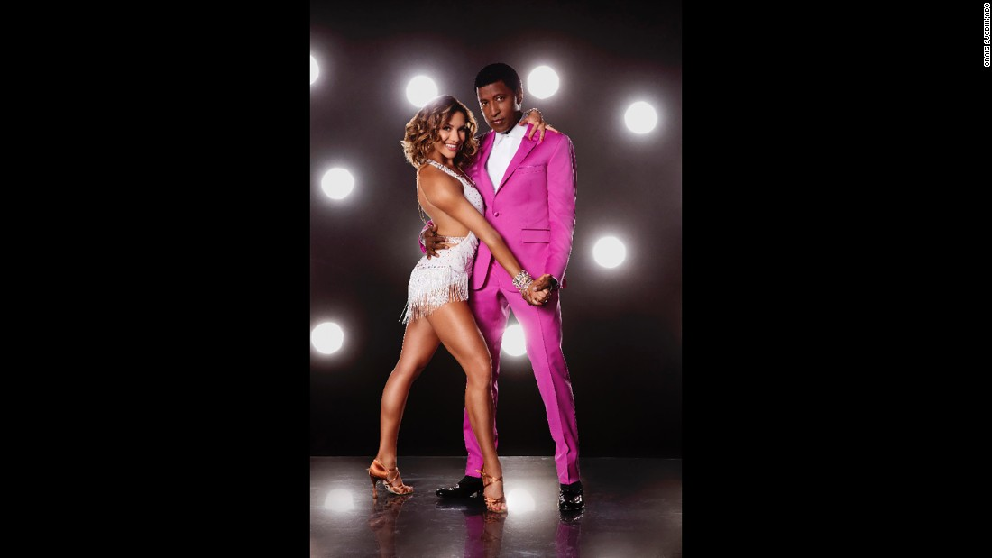 "Pro dancer Allison Holker and singer/producer Kenneth ""Babyface"" Edmonds."