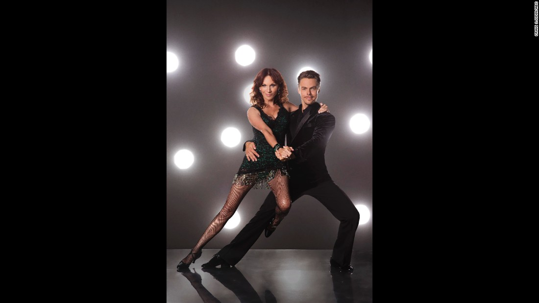 Actress Marilu Henner and pro dancer Derek Hough.