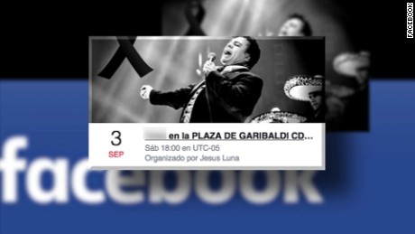 GROUP IN FACEBOOK INVITE TO GREAT CELEBRATION IN GARIBALDI SQUARE IN MEXICO CITY TO REMEMBER THE SINGER