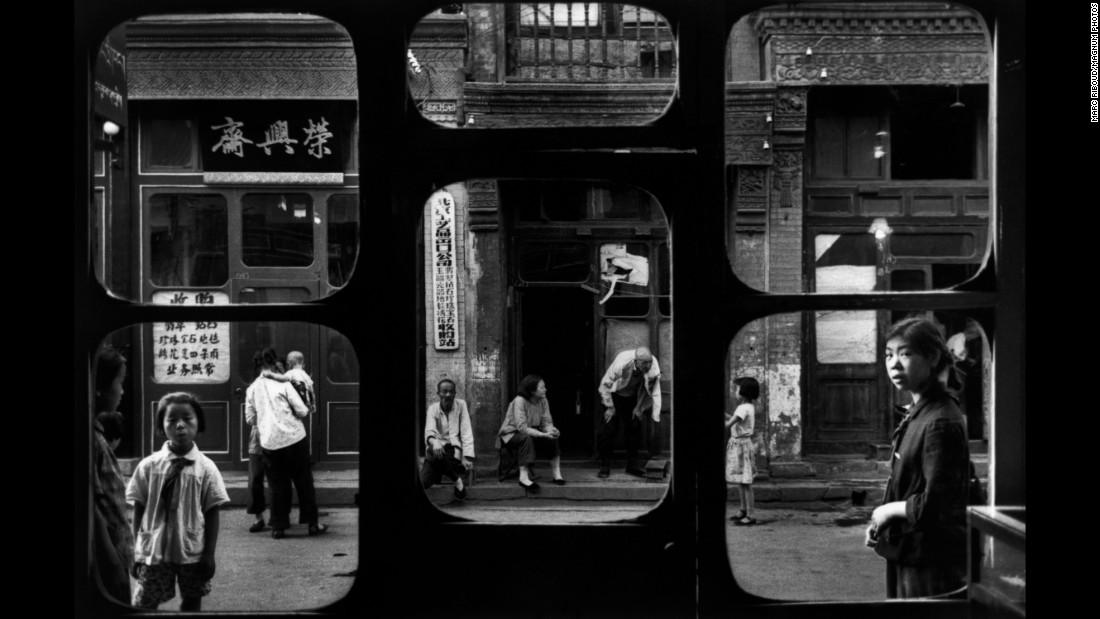 A street in Beijing, as seen from an antique dealer's shop in 1965.