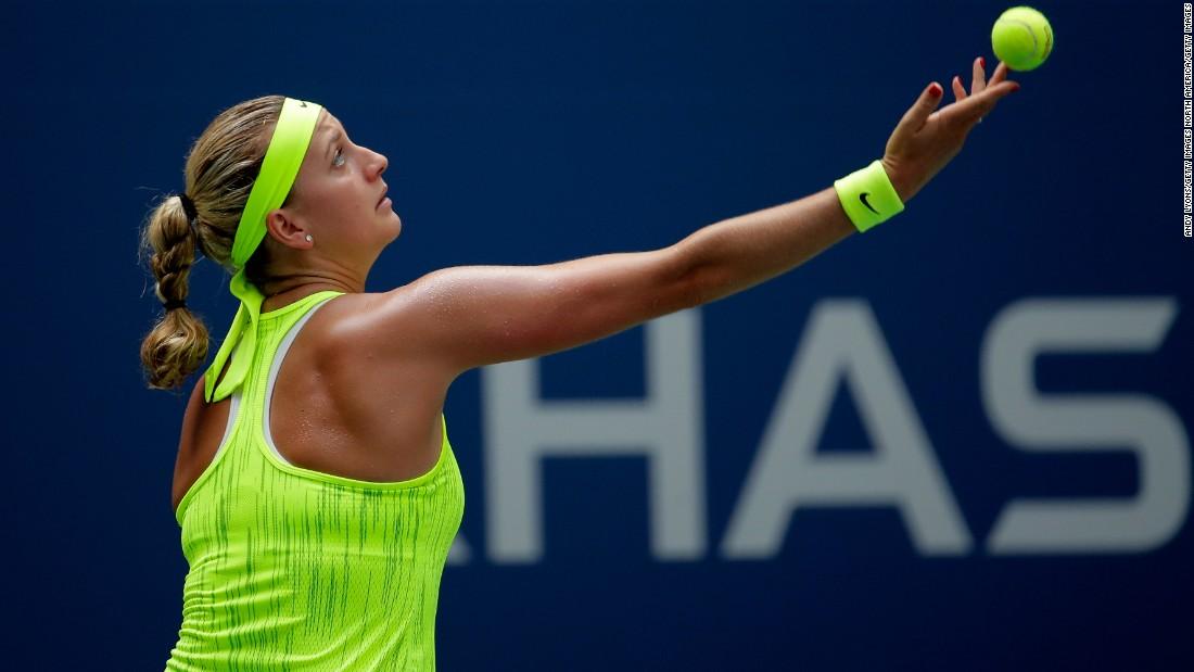 Petra Kvitova, the twice Wimbledon champion, defeated Cagla Buyukakcay 7-6 (7-3) 6-3.