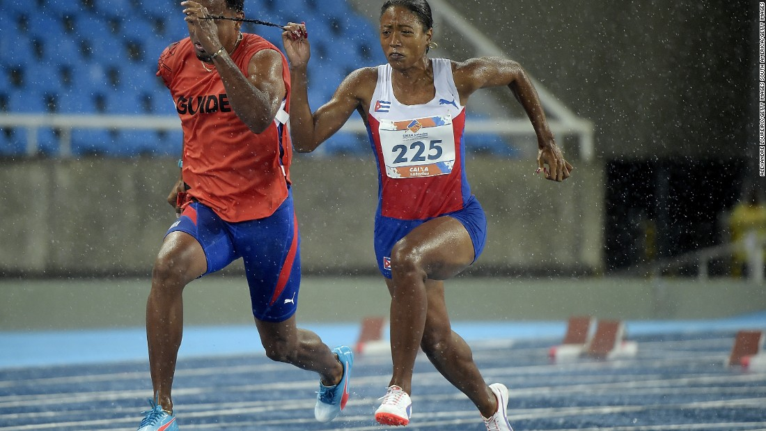 The visually impaired Cuban sprinter Omara Durand is aiming for multiple golds at the Rio Paralympics to add to her haul. With a time of 11.48 seconds, she is the world record holder at 100 meters in the T12 class. Durand is defending Paralympic champion at 100m and 400m.