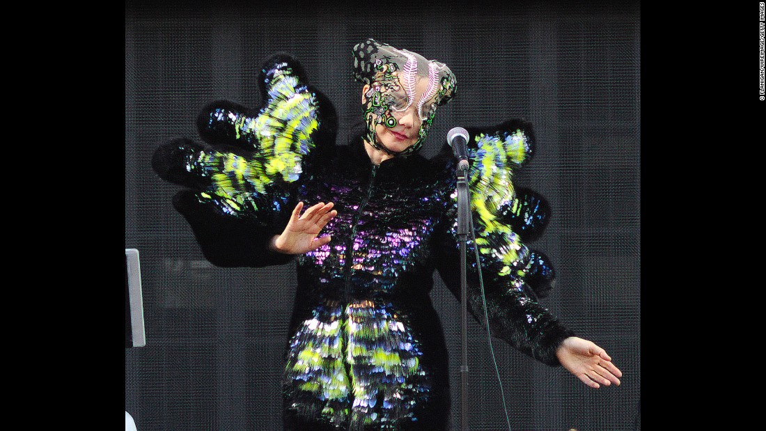 Björk performs during 2015 Governors Ball Music Festival on Randall's Island in New York.