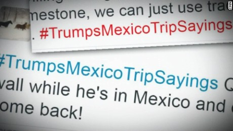 Twitter cracks up over Trump trip to Mexico