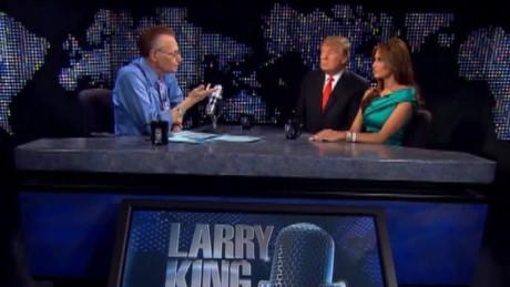larry king live 2010 arizona immigration law donald trump melania trump sot_00003005