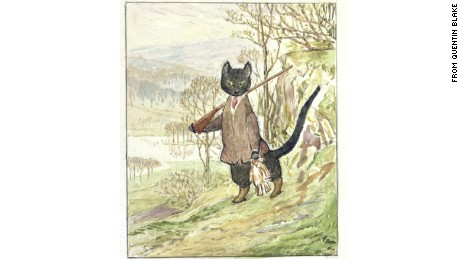 """Beatrix Potter left behind only one sketch of """"Kitty-in-Boots."""""""
