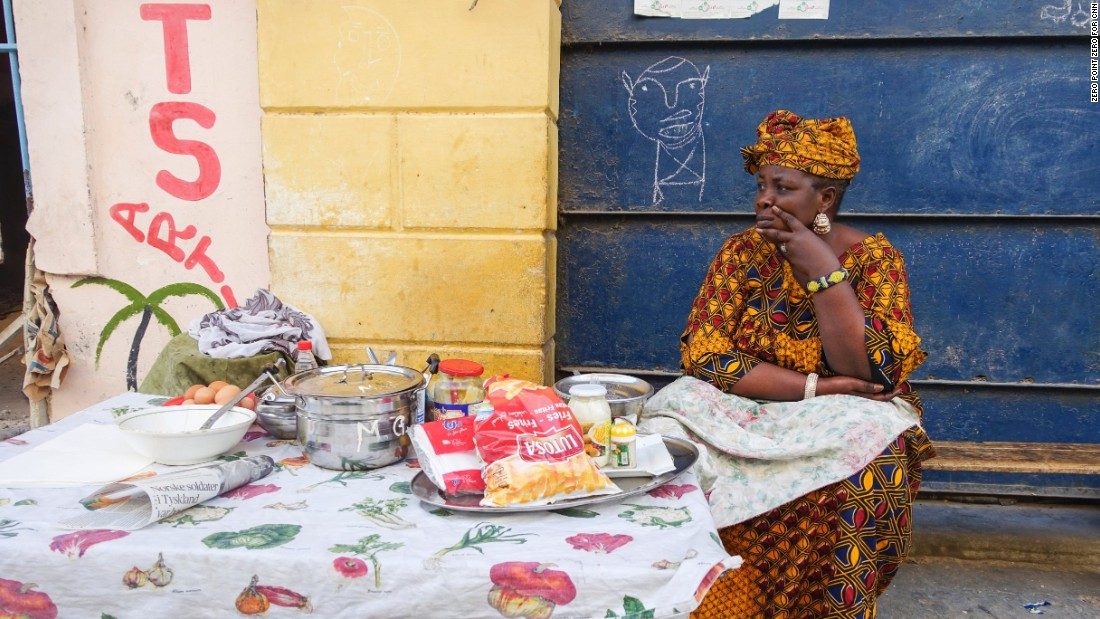 "Senegal ""is a country that defies stereotypes and expectations at every turn,"" <a href=""http://www.cnn.com/2016/05/27/travel/bourdain-parts-unknown-senegal/"">Bourdain said</a>. Here, a breakfast vendor waits for customers in Saint-Louis."