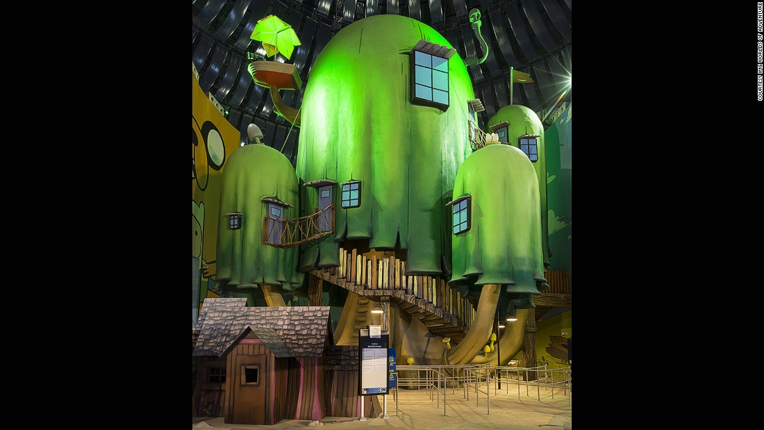 The Tree House is part of an adventure land inspired by the Cartoon Network show Adventure Time.