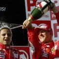 Massa and Schumacher ferrari f1