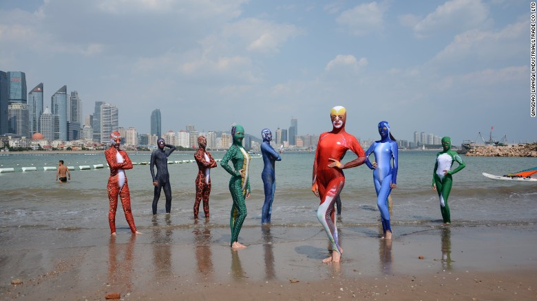 The latest facekini designs have creating a stir online.
