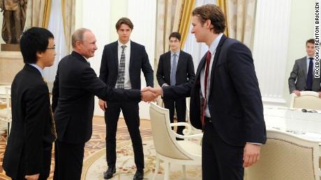 "Eton's Trenton Bricken wrote on Facebook that Vladimir Putin ""was small in person but not in presence."""
