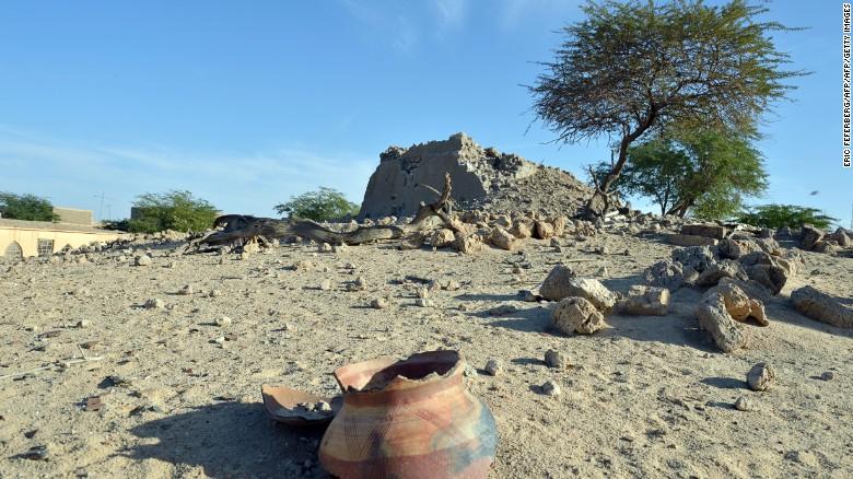 The Alfa Moya mausoleum was among the sites al-Faqi al-Mahdi was accused of helping destroy.