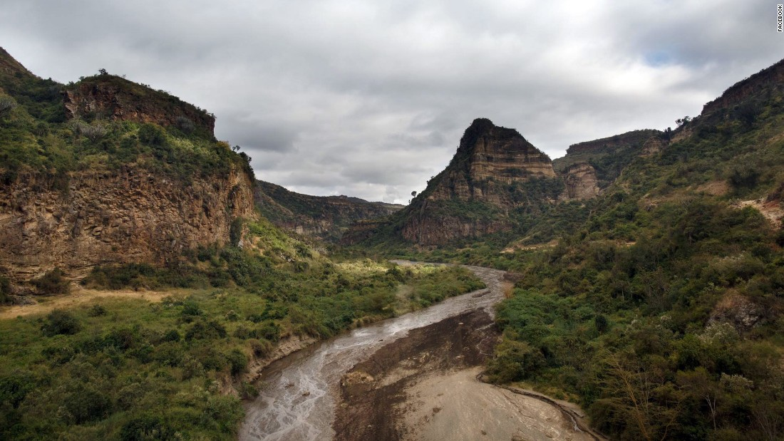 The Kenyan landscape.