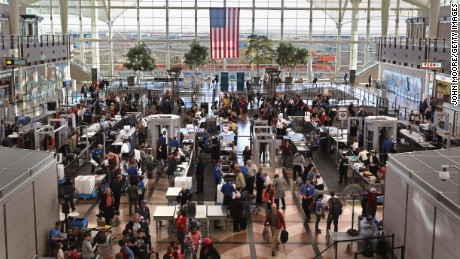 Lines are getting  shorter at airport security checkpoints.