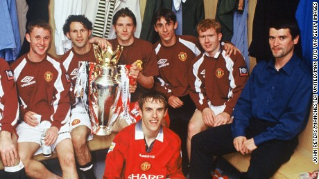 Nicky Butt, Ryan Giggs, David Beckham, Gary Neville, Paul Scholes and Phil Neville would all go on to become United regulars having progressed from the youth team under Sir Alex Ferguson.
