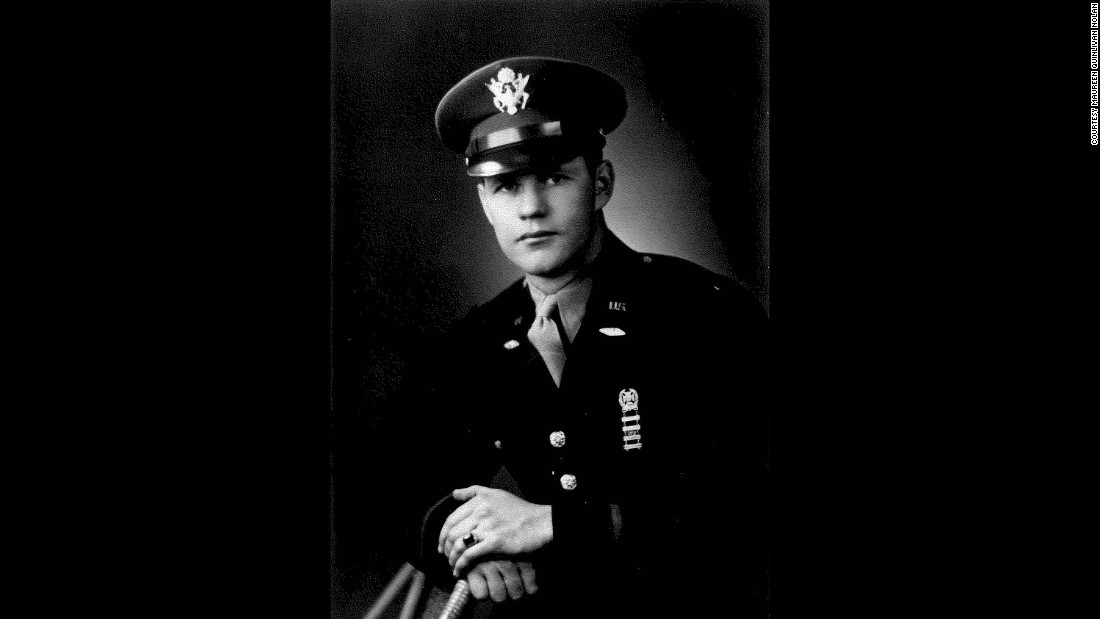 Lieutenant William Donald 'Quin' Quinlivan was the first of 70 US troops on the scene after the Germans surrendered.