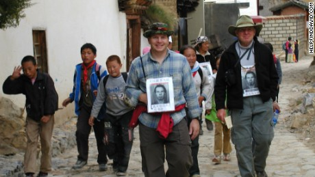 James and Roy Sneddon searching for David in Yunnan in 2004.
