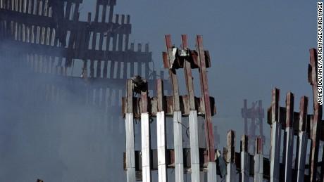 Ground Zero one week after the World Trade Center attack (Photo by James Devaney/WireImage)