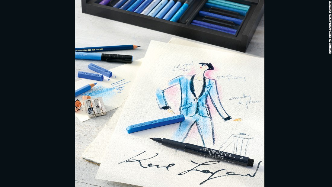 """""""Since I was a child in Germany, Faber-Castell has been the most famous brand, known for its especially good quality,"""" says Lagerfeld. <br /><br />""""That reputation remains just as true today, particularly for artist pencils."""""""
