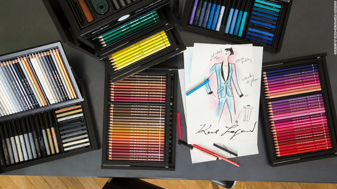Lagerfeld says that he has been using Faber-Castell art tools throughout his childhood, and continues to use them to create his collections today.
