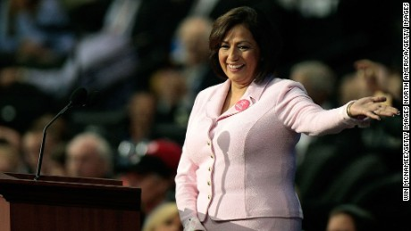 ST. PAUL, MN - SEPTEMBER 04:  Former U.S. Treasurer Rosario Marin acknowledges the crowd on day four of the Republican National Convention (RNC) at the Xcel Energy Center on September 4, 2008 in St. Paul, Minnesota. U.S. Sen. John McCain (R-AZ) will accept the GOP nomination for U.S. President Thursday night.  (Photo by Win McNamee/Getty Images)