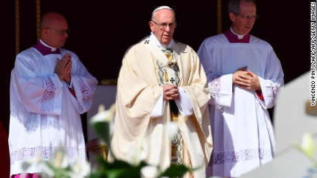 Pope Francis praised Mother Teresa as a model of compassion to Catholics worldwide.