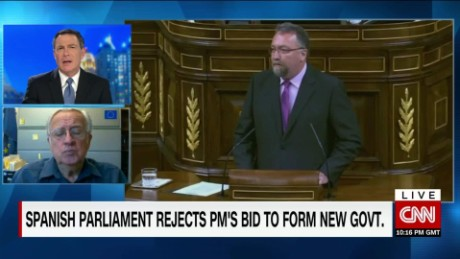 exp Spanish Parliament Rejects PM's Bid for New Government_00023210