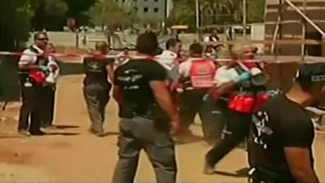tel aviv parking garage collapse liebermann liveshot_00002020