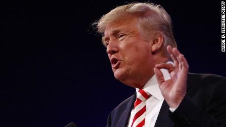 Donald Trump speaks on September 1, 2016, in Cincinnati, Ohio.