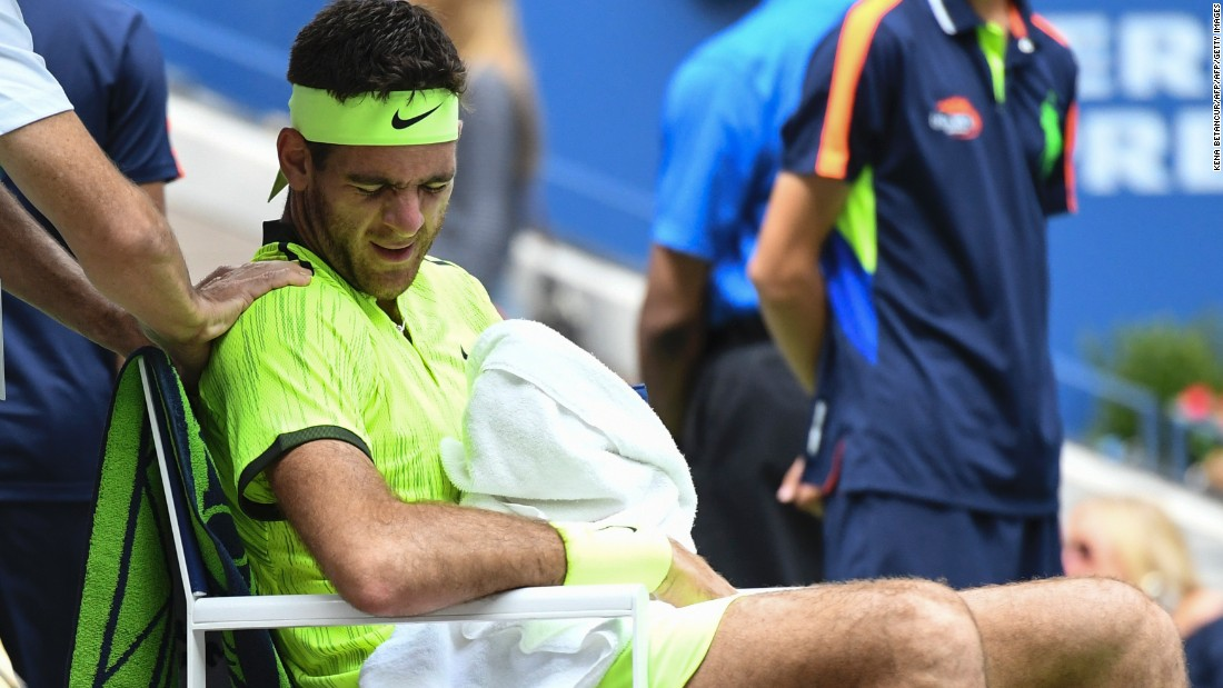 And when the injury hit del Potro called for the trainer after three games, things looked bleak for the 2009 winner.