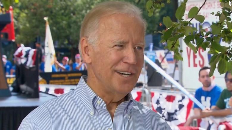Biden: Clinton knows she has a trust problem