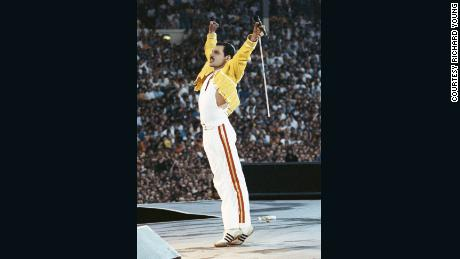 """""""Freddie had a certain kind of elegance about him, and a certain frame mind of knowing what he wants to wear on stage, and it was always a combo of colors that always seemed great. He had a really good eye for fashion, and a great eye for clothes,"""" Young said."""