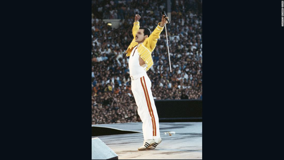 """Freddie had a certain kind of elegance about him, and a certain frame mind of knowing what he wants to wear on stage, and it was always a combo of colors that always seemed great. He had a really good eye for fashion, and a great eye for clothes,"" Young said."