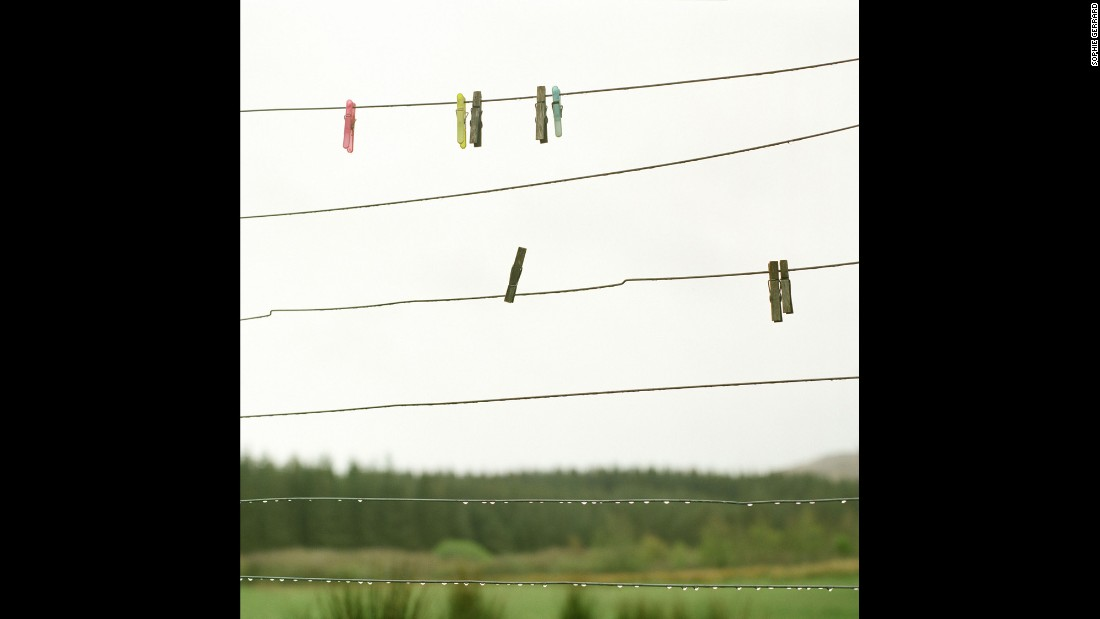 """Minty MacKay's washing line on the Isle of Mull. """"It's important that the land is lived on,"""" MacKay told Gerrard. """"You need to live there because then one's heart is in it. The land suffers when the heart isn't there."""""""
