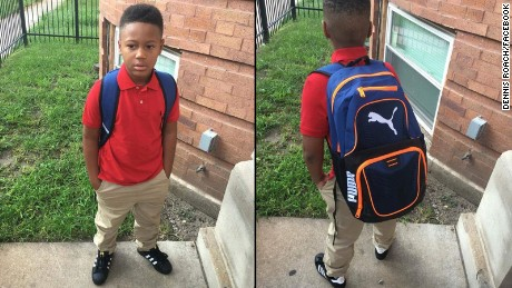 Dennis Roach says he's plans to walk son Kamarion back-and-forth to school on Chicago's West Side.