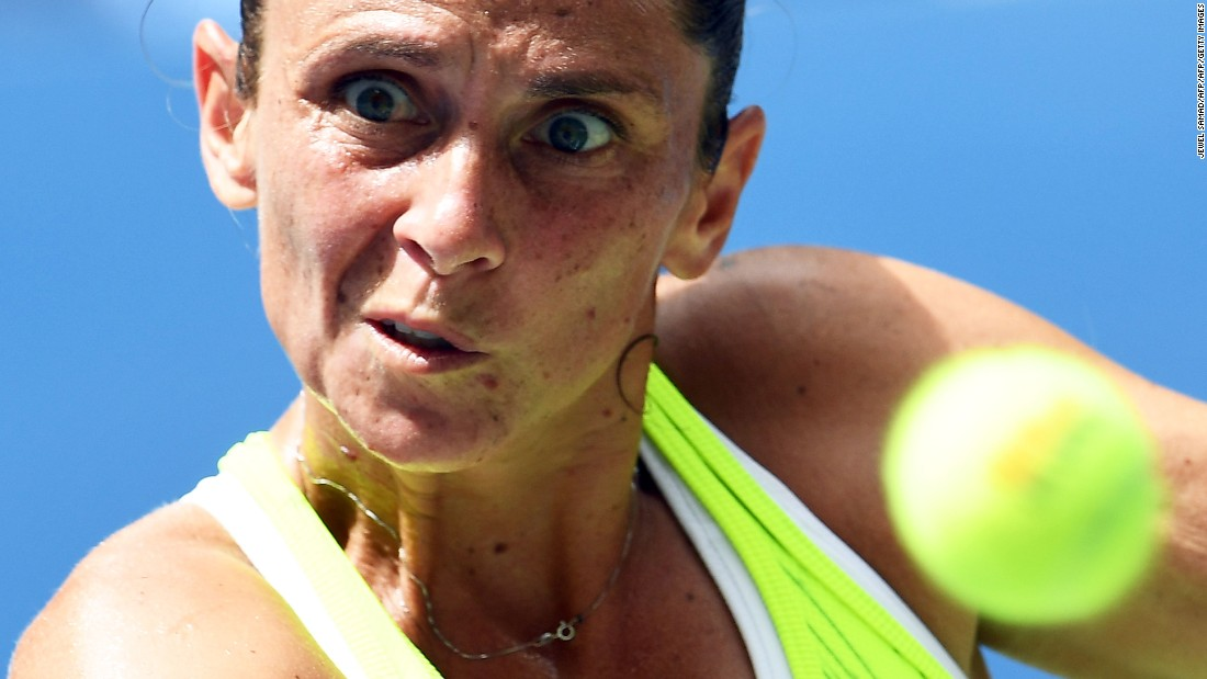 Vinci, though, couldn't serve out the first set and her level dipped thereafter.