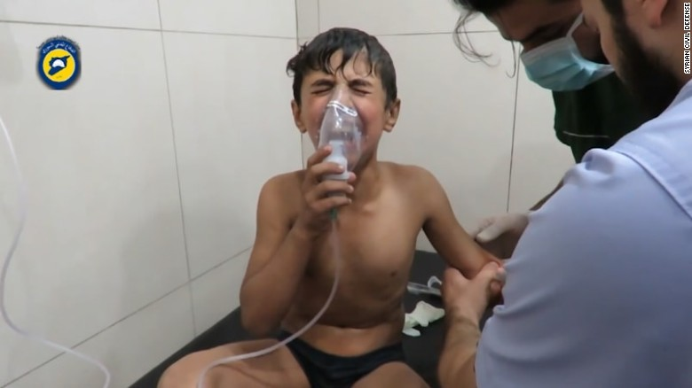 Monitors: Victims struggle to breathe after Aleppo chemical attack