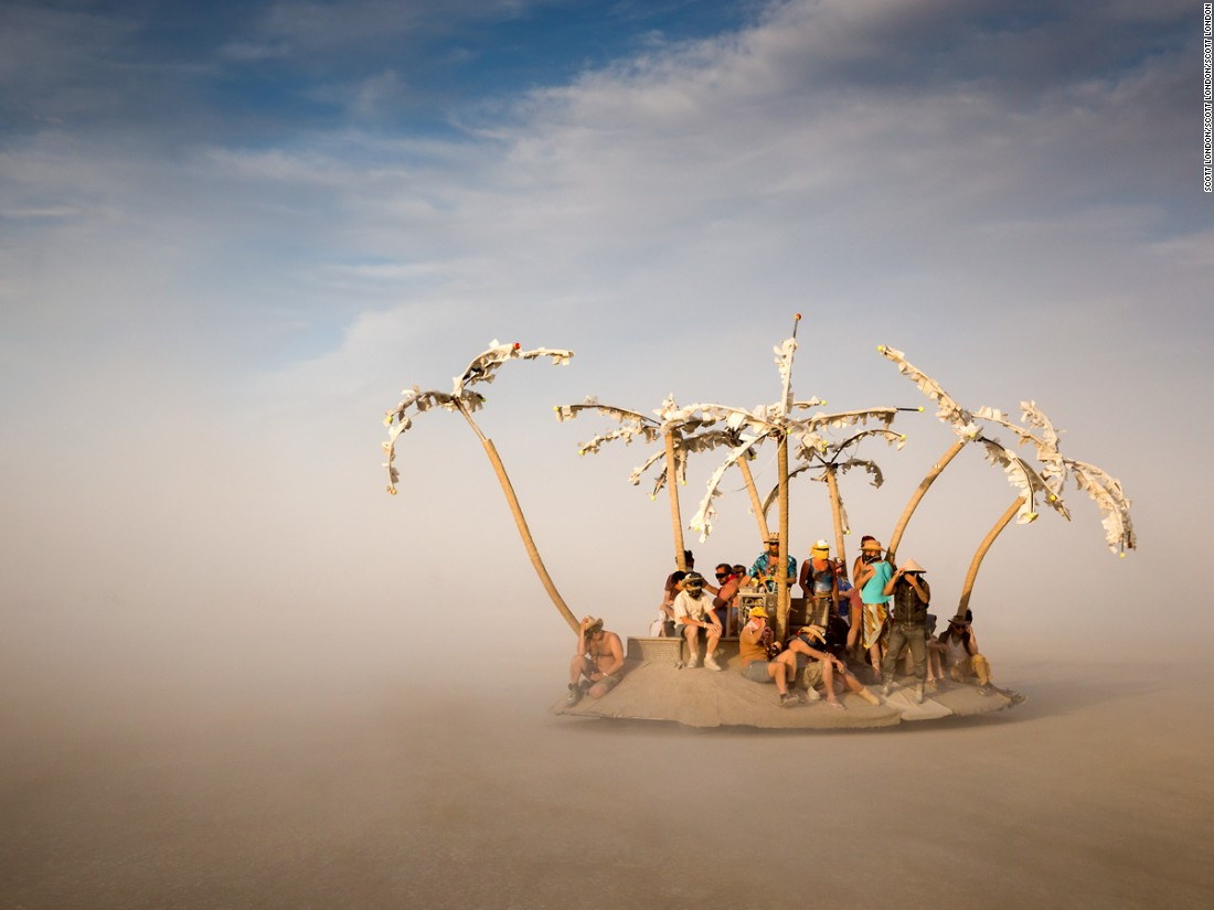 """Artist Daniel Beckman says he designed this art car as an homage to an inspirational hymn about salvaging a sunken ship and triumphing over great odds."""