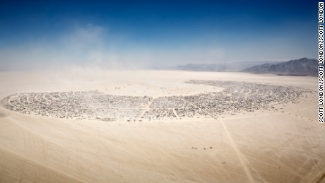 Burning Man, photographed by Scott London