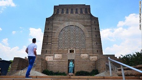 The Voortrekker monument overlooks a nature reserve.