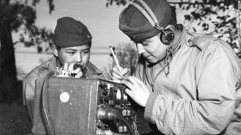 a review of the story of a native american world war ii veteran Trump hosted navajo code talkers, who were recruited into the us marine  corps to communicate in the pacific region during world war ii, at the white  house  said her claim of native american heritage stemmed from family stories ,  the president, whose remarks followed those of veteran code talker.