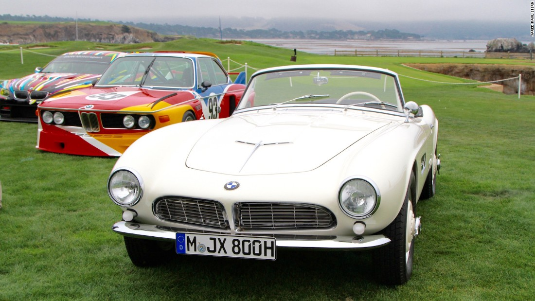 Elvis Presley's 1957 BMW 507 Roadster was more subtle than most of the cars around it (Including the BMW Art Car designed by Jeff Koons), but no less of a draw to discerning Concours-goers.