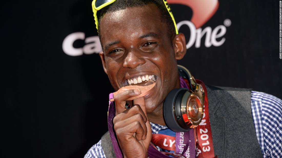 Patrick Blake Leeper won 200m bronze at the Paralympics in London four years ago in the T43 category.