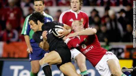 The All Blacks won all three Tests against the Lions in 2005.