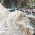 Huge wave by Typhoon