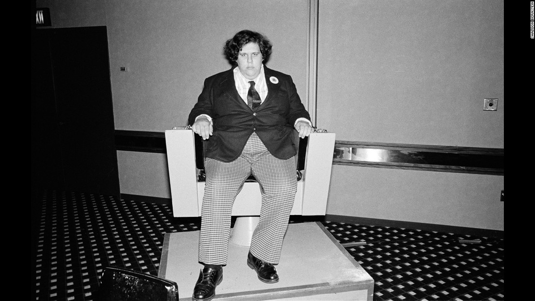 "This photo shows Jonathan Gleich sitting in a captain's chair. He said to Bernstein: ""I was very shy -- just wrapped up in my own little world and happy there."""